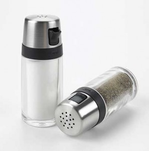 Oxo salt and pepper shakers